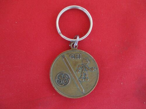 Vintage REDDY KILOWATT Perry Nuclear Plant Key Chain Pendant GE Perry  Cleveland