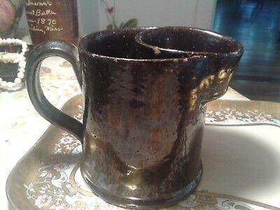 Beautiful Albany Slip  Alabama Southern Stoneware Men's Scuttle Shaving Mug !