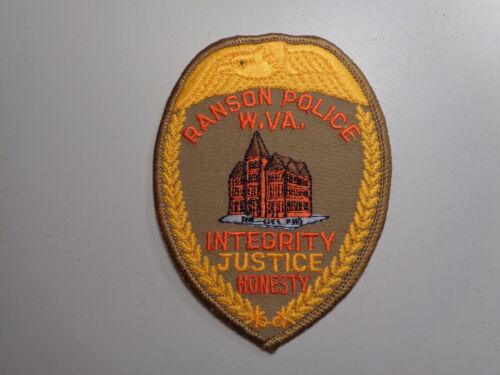 Vintage Ranson West Virginia Police Shoulder Patch Embroidered
