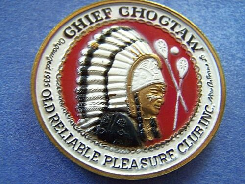 1978 Choctaw HAPPINESS IS Multi-Color High Relief Mardi Gras Doubloon