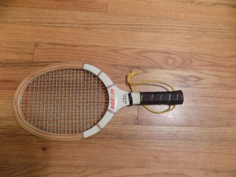 "Vintage Antique Rare Wood Racquetball Racquet ""Add In"" Brand Taiwan T-1205"