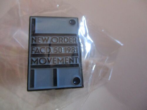 NIP NEW ORDER Movement Album Cover 1 Inch Tall Pin Manchester Factory Records