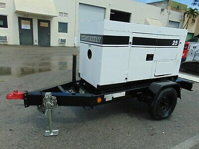 2013 Mq Power 25 Kw Whisperwatt - Isuzu Diesel - 3 Phase - Trailer Mount