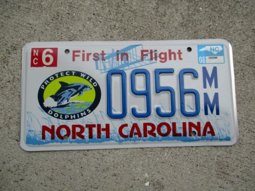 North Carolina 2008 Protect Wild Dolphins license plate  #   956