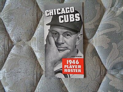 1946 CHICAGO CUBS MEDIA GUIDE ROSTER Press Book Program Yearbook Baseball AD