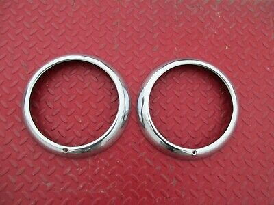 1940's-1950's-1960's VINTAGE CAR STAINLESS STEEL HEADLIGHT BEZELS/RINGS for sale  Shipping to South Africa