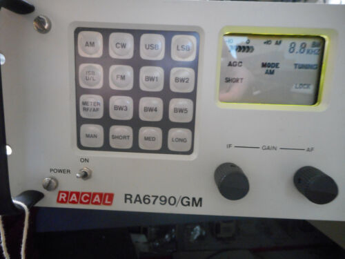 RACAL RA6790/GM RECEIVER WITH A6A2 (F-RAM) Memory Adapter Board