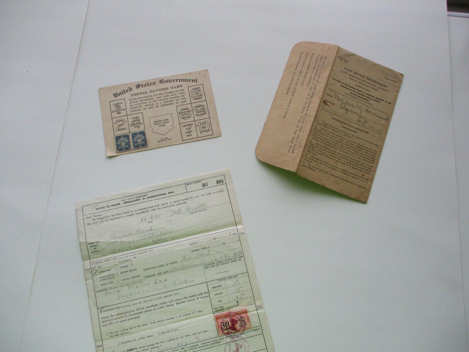 1920-65 Saudi Arabia Signed Document,Stamps,3rd Asst. Postmaster Mailer,card Lot - $19.99