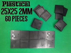 25mm 25x25mm 2mm plastic square miniature bases Warhammer BUY 2 PACKS GET 1 FREE