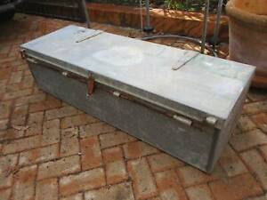 Large Old Heavy Duty Metal Tool Box