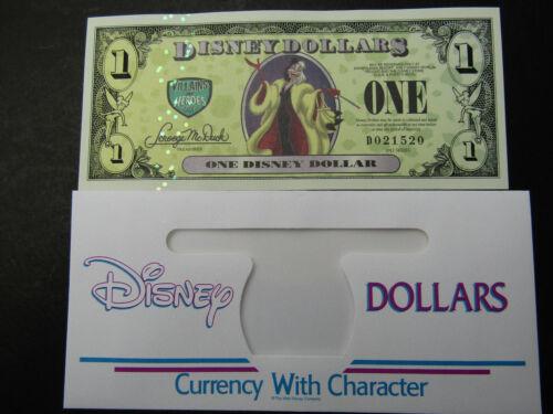 Disney Dollar $1 CRUELLA 101 DALMATIONS ERROR Uncirculated D021520 Villains 2013