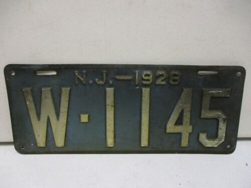 1928 New Jersey License Plate (1)