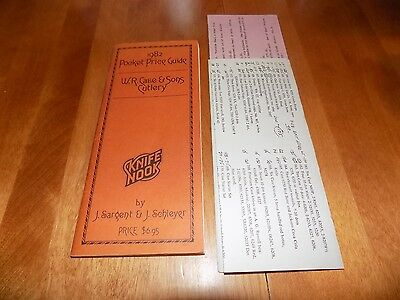 W.R. CASE & SONS CUTLERY 1982 POCKET PRICE GUIDE Collector Knives Knife Book