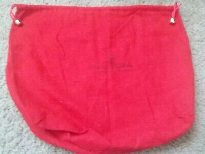 Gucci Dust Cover Purse Red Flannel Cotton Italy Accessory Collection Bag Vintage