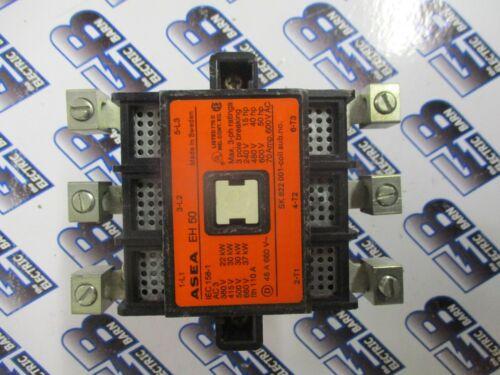 ASEA EH50, 70 AMP 600 VOLT 3 POLE CONTACTOR W/ 120 VOLT COIL