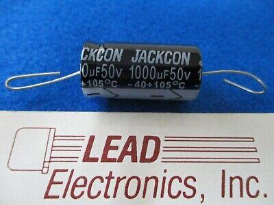Jackcon 1000uf 50v Axial 105-degree 1000mfd 50-volt 16mm X 30mm