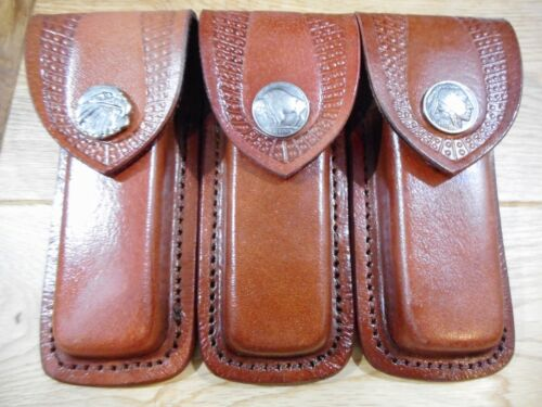 Buck 110 custom knife sheath. You choose the snap. Brown