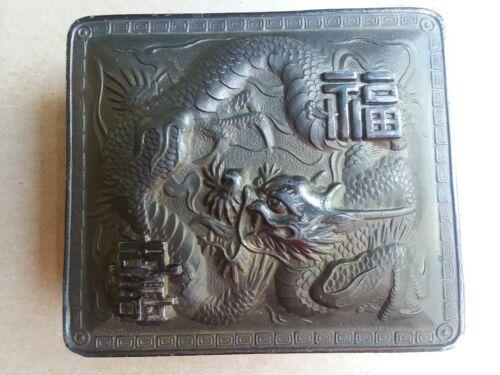 Japanese Dragon Metal Box