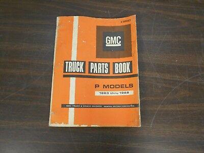 GMC TRUCK PARTS MANUAL BOOK P MODELS 1963 THRU 1968 518