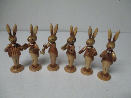 Vintage Dregeno German Democratic Republic 6 Piece Easter Rabbit Band in Org Box