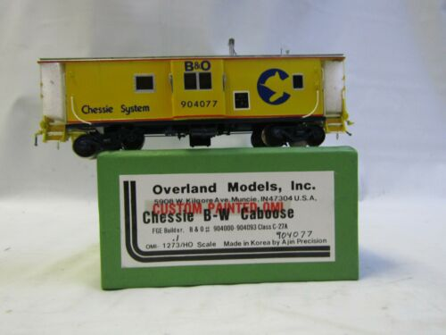 OVERLAND MODELS INC. 1273/HO CHESSIE B&O BAY WINDOW CABOOSE RD# 904077 NIB