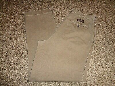 Abercrombie & Fitch Men's Relaxed Fit Khaki Pants, Sz 33x32, Pleated 12395 Pleats Relaxed Fit Khakis