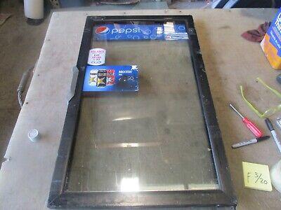 Used Replacement Glass Door For Qbd Beverage Cooler 33.75x20 Decent