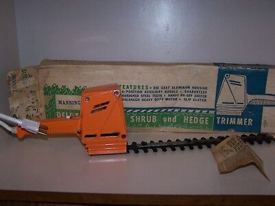 1960's Manning-Bowman Electric Hedge Trimmer - Rare Metal body! Model 57502