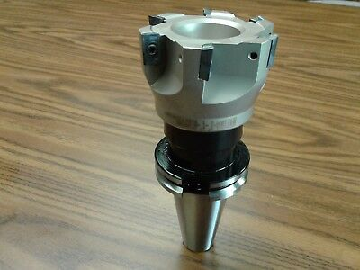 3 90 Degree Indexable Face Shell Millface Milling Cutter Apkt W. Cat40 Arbor