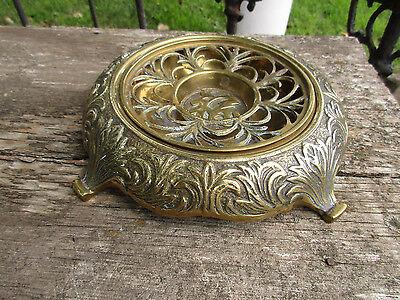 Vintage Chinese Brass Censer Incense Burner Pot Ashtray