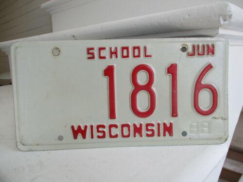 Wisconsin School  license plate #  1816