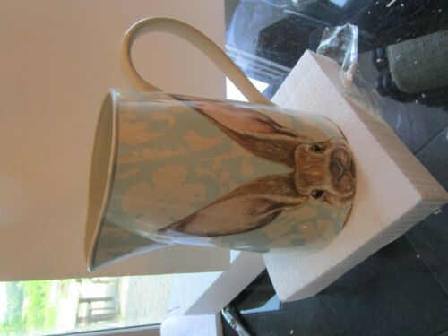 Williams Sonoma Damask Bunny  Easter  Pitcher   New
