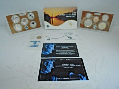 2019 S  10 Piece Proof Set with Special West Point Penny