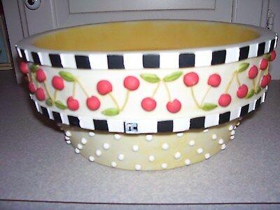 Mary Engelbreit Cherry Bulb Pot 2007