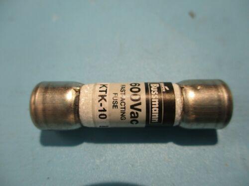 NEW BUSSMANN KTK-10 10A/AMP FUSE