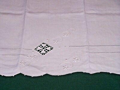 GORGEOUS VINTAGE ITALIAN LINEN SHOW TOWEL, NEEDLE LACE, FABULOUS DESIGN, c1920