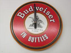 BUDWEISER BEER ROUND 11.75 CLOCK - BWB