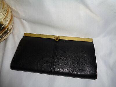 FOSSIL KAYLA CLUTCH FRAMED WALLET BLACK PEBBLED LEATHER SL7825001 PUSH LOCK  Push Lock Wallet
