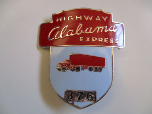 vintage Alabama Highway Express Trucker Trucking Truck Hat Badge Cap Pin