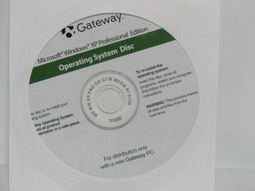 Microsoft window xp Professional edition ( gateway)