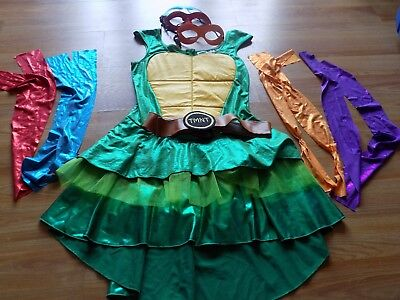 Size Medium Spirit Halloween TMNT Teenage Mutant Ninja Turtles Costume Dress EUC