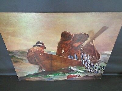 """Vintage Litho """"The Herring Net"""" by Homer (Cat.#A5003)"""