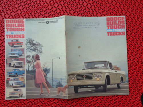 1963 Dodge Low-Tonnage Pick up Truck brochure Revised ed + specification sheet