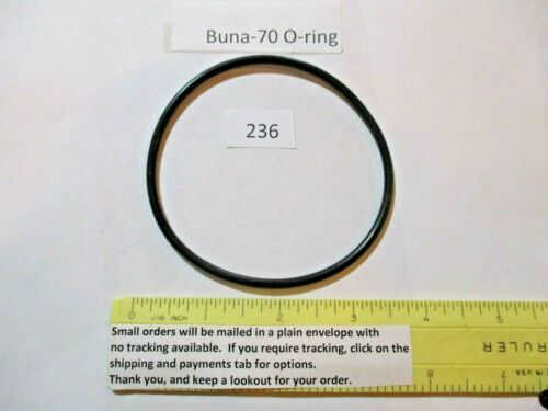 "236 O-ring 3-1/4"" ID x 3-1/2"" OD x 1/8"" thick. Buna-70.  Quan 1."