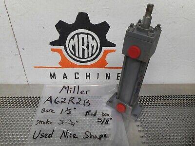 Miller Fluid Power A62r2b Hydraulic Cylinder 1-12 Bore 3-34 Stroke 250psi
