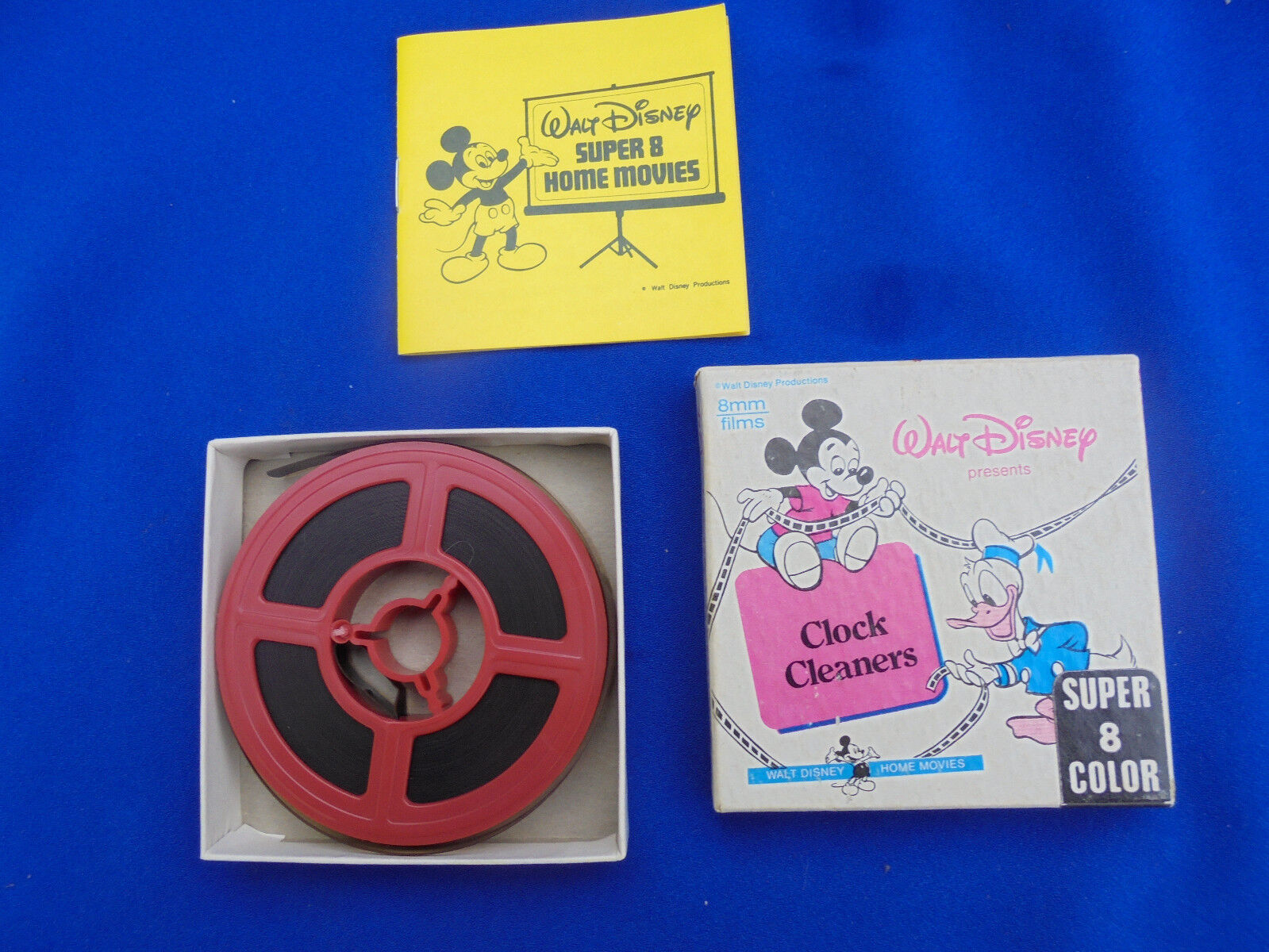 Walt Disney Super 8 Colour Film  Mickey and Donald  The Clock Cleaners