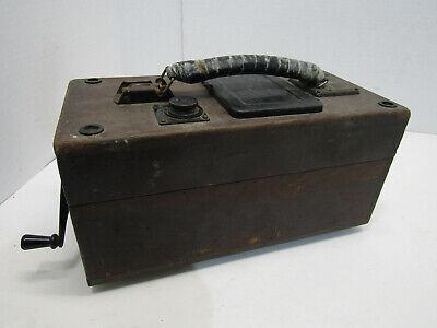 Old Vintage Megger Ground Resistance Wood Tester Electrical Equipment