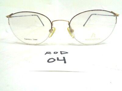 Vintage 90's RODENSTOCK Eyeglasses R2429B Half Rim Stainless Steel (Steel Rimmed Glasses)