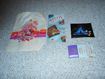 Vintage Disney 1994 Sticker Epcot Guide Ticket Magic Music Days Paper Bag Used - Paper Bag Tickets