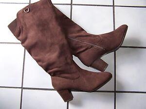 AVON Cushion Walk Boots~Brown~Size 8~Fit large Calves~16